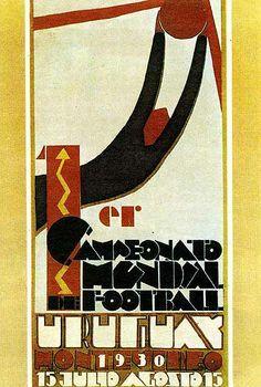 Affiche de la Coupe du Monde 1930 http://footichiste.wordpress.com/2014/01/17/affiche-coupe-du-monde-1930-uruguay/