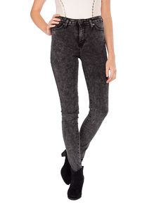 High Rise Acid Washed Jeans