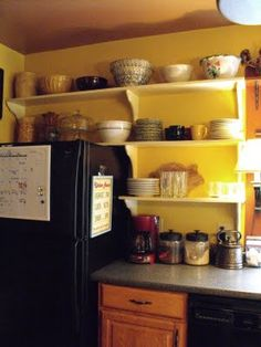 shelves extending over the fridge. That's what I need, it'd add much needed space to My tiny kitchen!