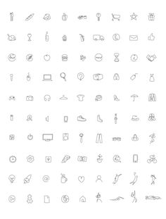 One line - 100 icons on Behance