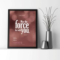 Star Wars: May the force be with you. - Digital Print