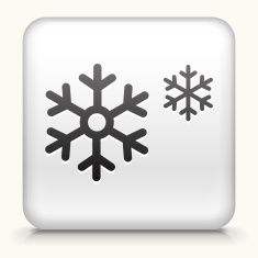 Square Button with Snowflakes vector art illustration