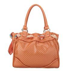 JSR Scarf Cut-Out Detail Shoulder Bag - Orange [170467-33] - $39.00