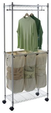 Real Organized Supreme Chrome Laundry Center - traditional - laundry products - Lowe's