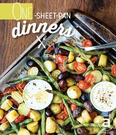 Try easy one-sheet-pan dinners: Warm Salade Niçoise with Baked Eggs ...