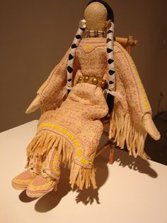 'imperfect doll' traditional plains-style Native American art doll by Tatakwan