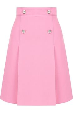 GUCCI Womens Pink Plain Mini-Skirt from a Mixture of Wool and Silk - Buy for 77600 rub. in the TsUM online store, art. Mode Chic, Mode Style, Skirt Outfits, Dress Skirt, Silk Skirt, African Fashion, Korean Fashion, African Dress, Classy Outfits