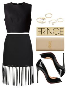 """Shimmy Shimmy: Fringe"" by vany-alvarado ❤ liked on Polyvore featuring Alexander Wang, Yves Saint Laurent, Jeweliq and fringe"