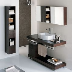 Having a modern or contemporary bathroom vanity is always a great idea for those who prefer a minimalist interior design. Modern Baths, Contemporary Bathrooms, Modern Bathroom, Small Bathroom, Bathroom Pink, Bathroom Ideas, Bathroom Designs, Modern Toilet, Contemporary Vanity