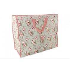 This practical attractive storage bag with gorgeous pink floral rose design is great for storing bedding, clothes, laundry and can also be used as a toy bag or boot tidy.