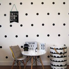 Monochrome Spot Wall Stickers.