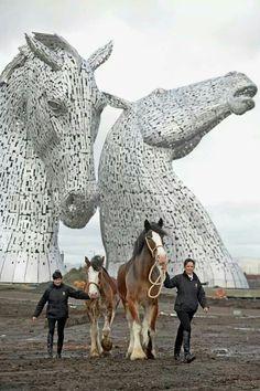 Scotland's Huge Kelpies Sculpture - designed by Glasgow-based artist Andy Scott…
