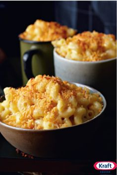 Four Cheese Macaroni - The epitome of comfort: Creamy mac and cheese with melty cheese shreds and a crunchy SHAKE 'N BAKE topping.