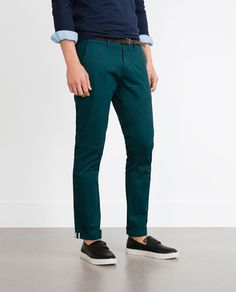 ZARA - MAN - TROUSERS WITH BELT