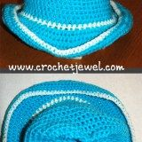 Baby hats really don't get much cuter than this. The Crochet Baby Cowboy Hat is a perfect pattern to make for the little cowboy (or cowgirl) in your life. This free crochet pattern includes directions on how to crochet six different sizes. Crochet Cow, Crochet Baby Boots, Crochet Beanie, Crochet For Kids, Crochet Hats, Free Crochet, Irish Crochet, Easy Crochet, Baby Cowboy Hat