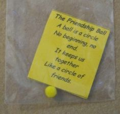 Image detail for -the friendship ball swap is a poem and a pompom in a mini baggie