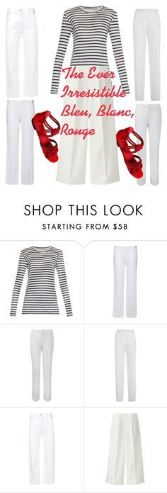 Bleu, Blanc Rouge for Printemps by tishjett on Polyvore featuring Étoile Isabel Marant, Lemaire, Sandwich, Jaeger, Pure Collection and Uniqlo