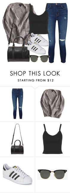 """Style #11571"" by vany-alvarado ❤ liked on Polyvore featuring J Brand, Topshop, Forever 21, adidas and Ray-Ban"