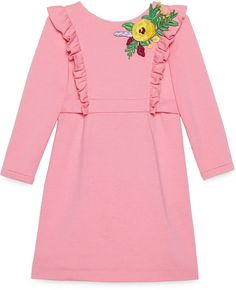 Shop the Gucci Official Website. Browse the latest collections, explore the campaigns and discover our online assortment of clothing and accessories. Funny Dresses, Girls Dresses, Cute Outfits For Kids, Toddler Outfits, Baby Girl Fashion, Kids Fashion, Kids Wardrobe, Embroidered Clothes, Sweet Dress