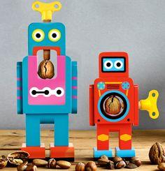 suck uk: wooden robot nutcrackers by matthias zschaler - designboom | architecture