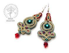 Sutasz-Anka: India- earrings http://www.soutage.com/2012/12/india-kolczyki.html