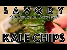 If you think Kale Chips are pretty spectacular, this Savory Soy Sauce and Sriracha flavored Kale Chips recipe is going to blow your mind! It's a nice twist on an already delicious snack! The soy-sriracha combination is a great compliment to the crispy, earthiness of the Kale Chips without overly masking the taste.