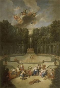 The Fountains of Versailles in the Time of Louis XIV: Amphitheatre du Theatre d'Eau (Cotelle)