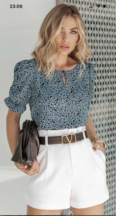 Short Outfits, Casual Outfits, Moda Outfits, Work Looks, Everyday Outfits, Blouse Designs, Plus Size, My Style, Womens Fashion