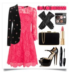 """""""Pretty Lace Dress"""" by alaria ❤ liked on Polyvore featuring Brian Atwood, Maison Margiela, MICHAEL Michael Kors, Chanel, Lancôme, Dolce&Gabbana, Dents, women's clothing, women's fashion and women"""