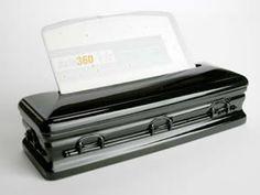 Casket Business Card Holder (jet black) Meyer we need this. Business Card Holders, Business Cards, Horror Decor, Six Feet Under, Momento Mori, Gothic House, Casket, Thought Provoking, Coffin
