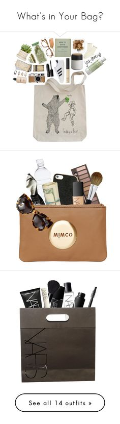 """What's in Your Bag?"" by mmmartha ❤ liked on Polyvore featuring (MALIN+GOETZ), NARS Cosmetics, CB2, adidas Originals, Hermès, Garrett Leight, Areaware, Forever 21, Lord & Berry and art"