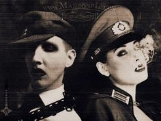 marilyn manson and dita von teese drink Dita Von Teese, Marilyn Manson Art, Brian Warner, Vintage Gothic, Emo Bands, Twiggy, Celebrity Couples, My Favorite Music, Johnny Depp