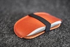 Leather Apple Magic Mouse Case Hand-stitched Tan Leather Stitching Leather, Hand Stitching, Apple Magic, Magic Mouse, Vegetable Tanned Leather, Cow Leather, Swatch, Wax, Cases
