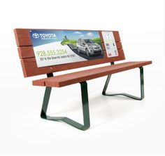 Inexpensive advertising ideas! Promote your business on benches at the golf course through Bench Craft Company at http://benchcraftcompany.com/