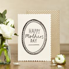Hand printed 'Happy Mothers Day' card by Katie Leamon