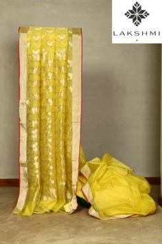 yellow-banaras-saree-from-lakshmI