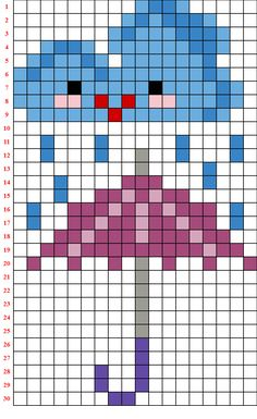 Cute Cross Stitch, Cross Stitch Cards, Cross Stitch Patterns, Beaded Flowers Patterns, Beading Patterns, Pixel Art Templates, Computer Coding, Animal Crafts For Kids, Charts And Graphs