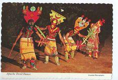 Wisconsin Dells, WI, Stand Rock Indian Ceremonial, Apache Devil Dance- Postcard