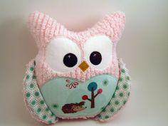 Chubby Chenille Plush Owl Riley Blake fabric