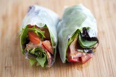 Summer rolls, pra próxima vez que comprar papel de arroz! Fresco, magrinho e delicioso!