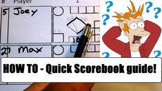 Watch if you are at the game and need to learn FAST how to score a baseball or softball game using the score-book. Baseball Scores, Baseball Field, Basketball Hoop, Softball, Bad Boss, Learn Faster, Equipment For Sale, Learning, Game