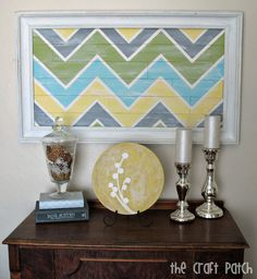 """Foam core """"faux"""" pallet art. Oh the things you can do with foam board...."""
