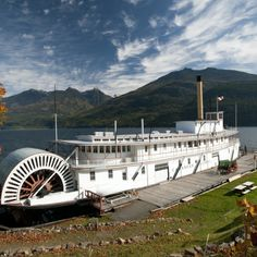 #Kaslo This friendly town that sits prettily on the lake is wrapped in the embrace of the mountains. Visitors can pay a visit to the SS Moyle Sternwheeler and Ntional Historic Site.