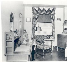 """Student nurse's room in the Moses Shoenberg Memorial School of Nursing Building, 1929. The Jewish Hospital of St. Louis had completed its new 250-bed facility on Kingshighway Blvd. in 1927. The nursing school was housed in the north wing of the first floor of the new hospital until the Shoenberg Building was completed in May 1929. """"Bernard Becker Medical Library, Washington University School of Medicine"""""""