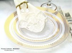 For the DIY Bride - Princess plastic plates for any event
