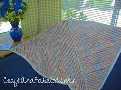 Oh-so-soft chenille blanket. DIY - fully illustrated instructions for blanket.