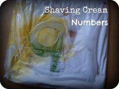 shaving cream number hide and seek