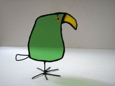 stained glass standing bird to fit your character by HaloneyRakia