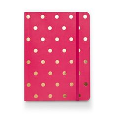 Love this raspberry and gold polka dot journal from Sugar Paper! Perfect for writing down your deepest and darkest :)