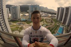 Rio 2016:Gymnast Brinn Bevan shared this selfie in his Olympic kit with a view out over the Rio set-up.